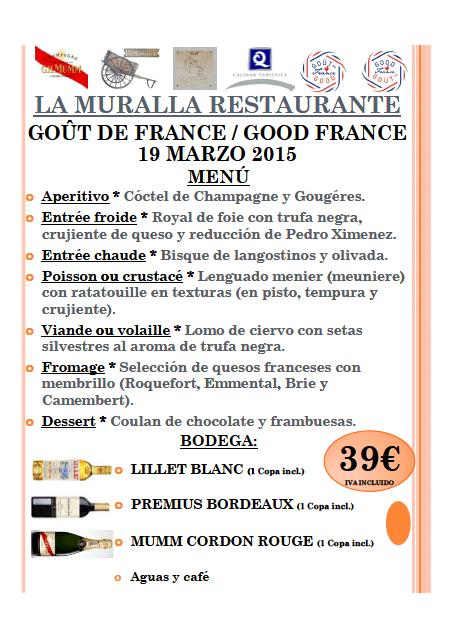 Menú a la Francesa