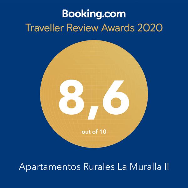 Booking Guest Review Awards 2020. Apartamentos La Muralla